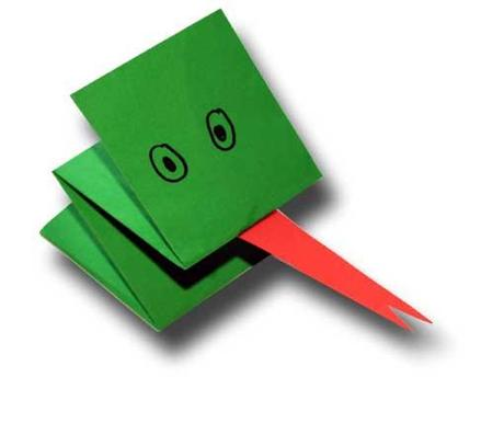 Simple Folded Paper Puppet