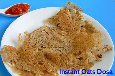 Oats Dosa / Instant Dosa Recipe / Indian Breakfast Recipe