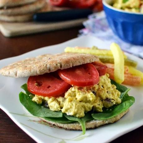 Vegan Curried Eggless 'Egg' Salad