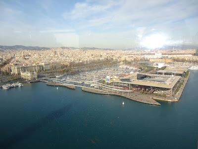 Port Vell of Barcelona seen from the cable car
