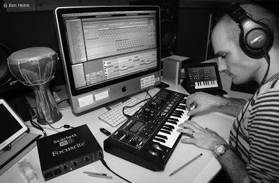 Ben Heine working on a Music Track with Ableton Live