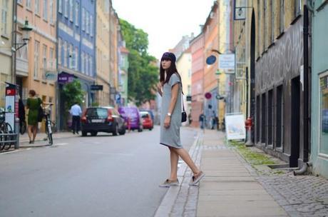 t-shirt dress street look copenhagen