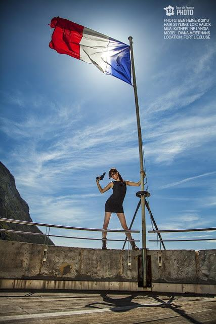James Bond Girl - Art and Photo by Ben Heine with Diana Meierhans - 2013 Tour de France Photo