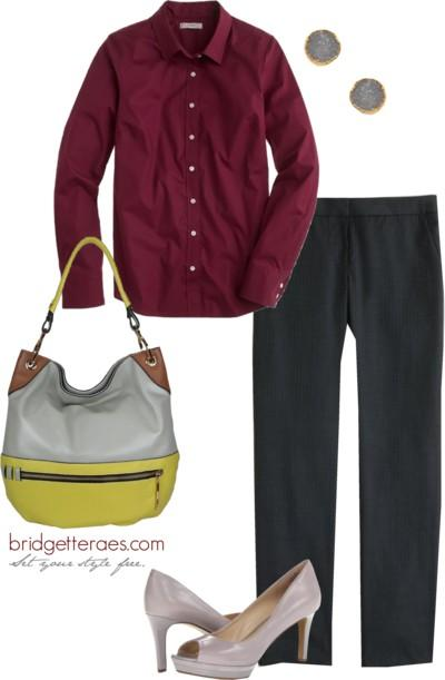 button downs and pants outfits