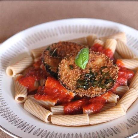 Vegan Eggplant Parmesan with Basil