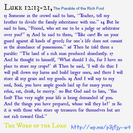 Luke 12:13-21