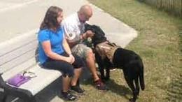 Cop Kicks Disabled Veteran Off Boardwalk Because Of His Service Dog (Video)