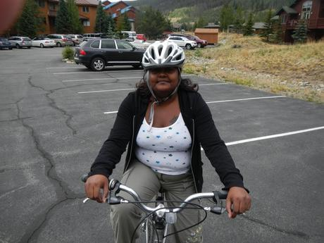 Learning to ride a bike in Colorado is great exercise!