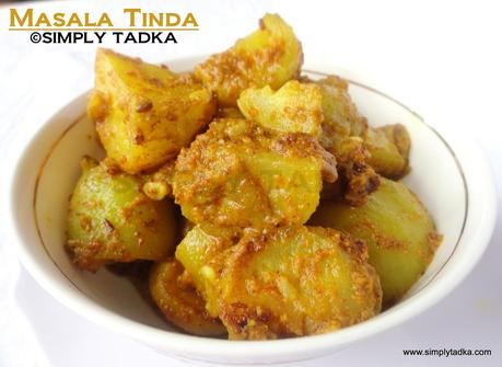 Spicy Apple Gourd Curry/ Masala Tinda Curry