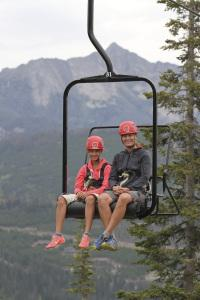 Chairlift ride to the zipline