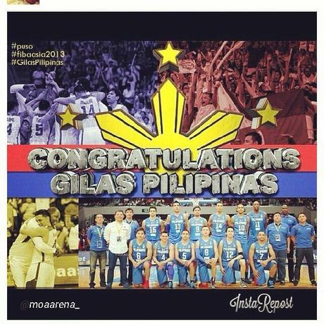 Congratulations Gilas Pilipinas - Runner Up 27th FIBA Asia Championship