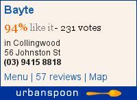 Bayte on Urbanspoon