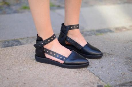 and other stories black strap flats shoes