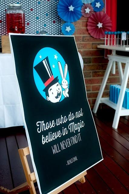 3 Is the Magic Number, A Magician Themed party by Studio Cake