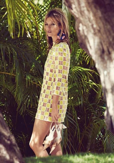 KATE MOSS Summer Retro for Vogue UK