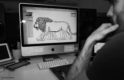 Lion Walk Animation - Work in Progress © 2013 Ben Heine