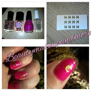 Coco inspired Chanel Bikini nail look/ NPLC Week 31