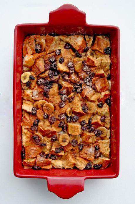 Banana, Cherry, and Roasted Cinnamon Bread Pudding Anecdotes and Apple Cores