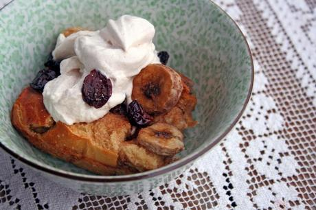 Banana Cherry Roasted CinnamonBread Pudding Anecdotes and Apple Cores
