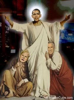 Boy Prays to Obama Like He Is A God (Creepy Video)