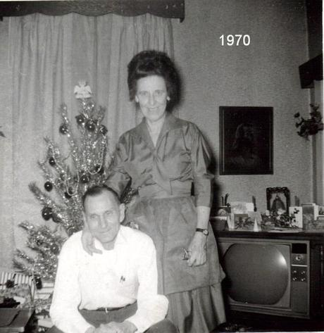 Aunt Irene and Uncle Ray at Christmas