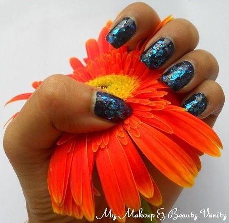 revlon moon candy nail art galactic+nail art+blue glitter+glitter nail polish+opi nail polish