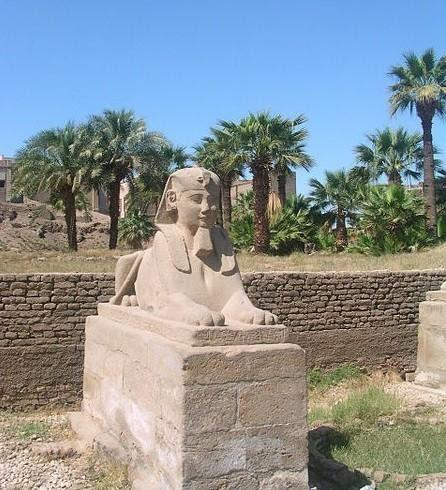 A statue of the Sphinx.