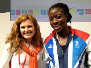 When Girl on the River met new 400m World Champion Chrissy Ohuruogu