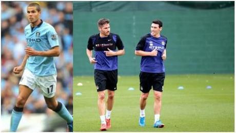 Fernandinho's direct competitors at Manchester City - Jack Rodwell, Javi Garcia & Gareth Barry