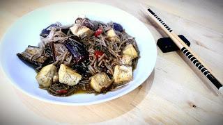 Tofu & aubergine soba noodles
