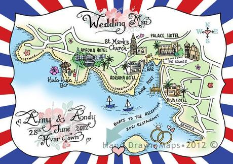 Hand drawn maps for weddings (2)