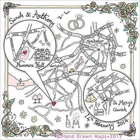 Hand drawn maps for weddings (1)
