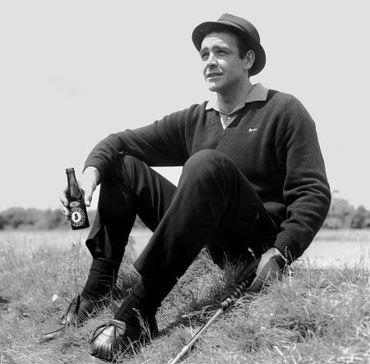 Before eventually becoming an avid player (due to his experience in Goldfinger), this was primarily Sean Connery's activity on the golf course.