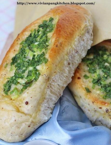 Spring Onions Bun/Sponge Dough Method