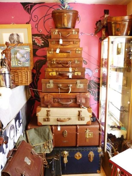 vintage suitcase selection shopping leicester the lanes dollymix vintage