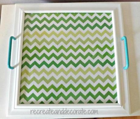 fabric framed tray DIY project