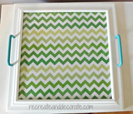 fabric framed tray DIY project