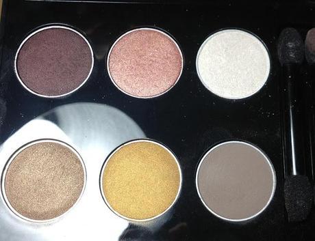 Avon True Colour 6 in 1 Eye Palette Neutral Eyes Swatches