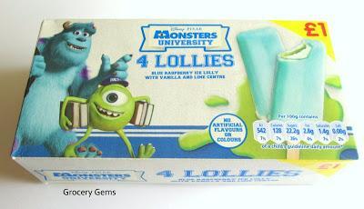 Disney Monsters University Ice Lollies