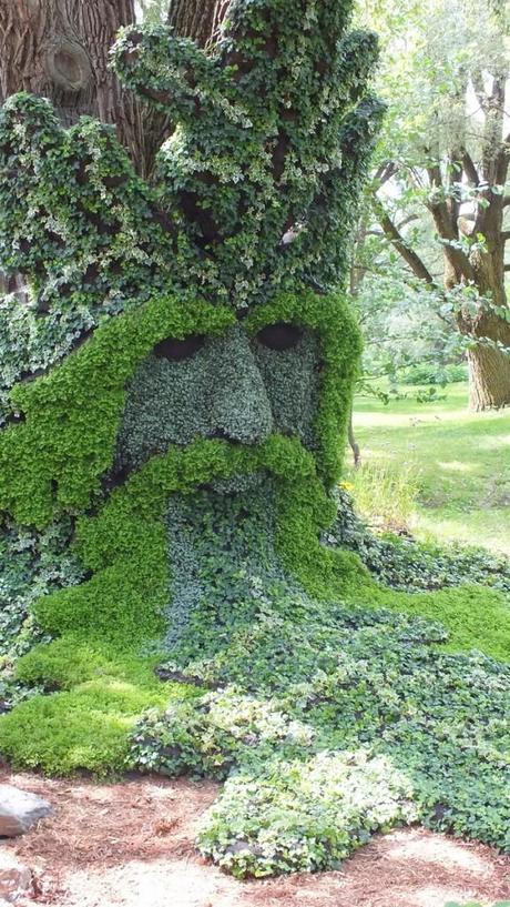 Spirits of the Wood - The Green Man (closeup) - Mosaiculture - Montreal Botancial Gardens