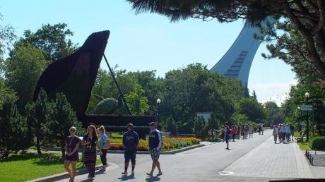 The Piano (Olympic Stadium in background) - Mosaiculture - Montreal Botancial Gardens
