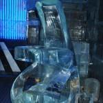 Sculptures Inside the Ice Bar in Oslo