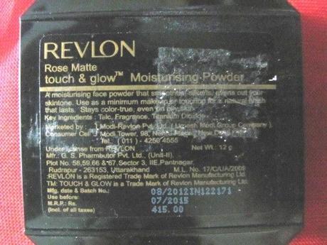 Revlon  Touch & Glow Moisturising Powder-Review