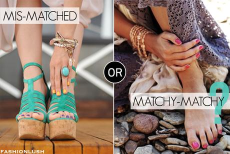 matching nails and toes
