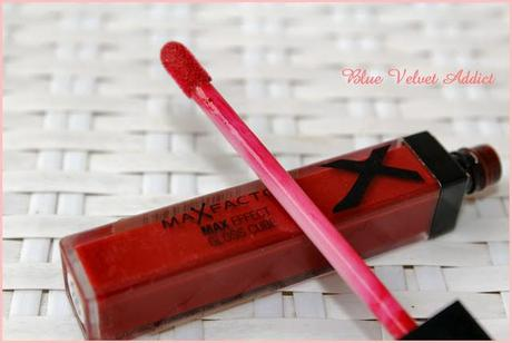 MAX FACTOR : MAX EFFECT GLOSS CUBE - 09 WILD CHERRY - REVIEW AND SWATCHES