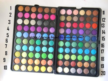 BH Cosmetics 120 Color Eyeshadow Palette ~ 2nd Edition : Swatches