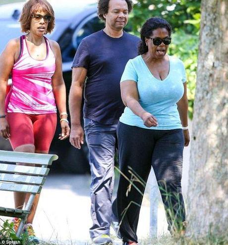 Oprah and Gayle King in Switzerland