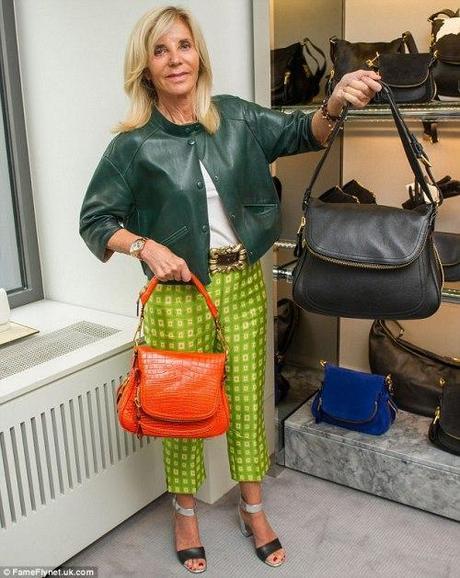 Shop owner Trudie Goetz holds up the bag