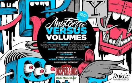 AnyForty Vesus Volumes Preview Launch Party at Roktic