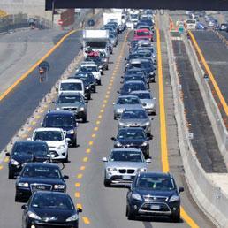 The Italian highways in the summer.